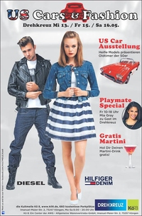 US Cars & Fashion im Drehkreuz